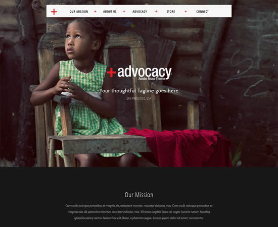 Advocacy Adobe Muse NonProfit Theme