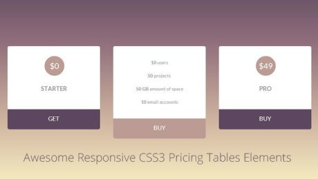 22+ Best CSS3 Pricing Tables Elements of 2013
