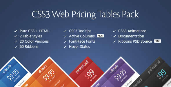 CSS3 Web Pricing Tables