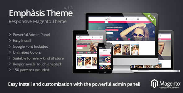 Emphasis Responsive Magento Theme