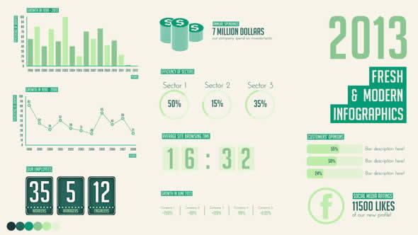 Fresh - Modern Infographics