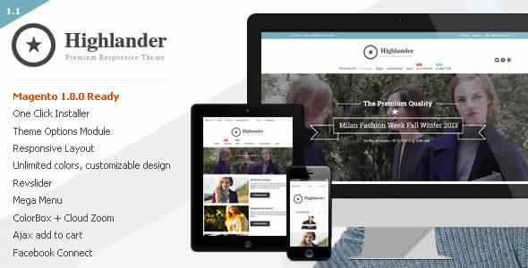 Highlander Premium Responsive Magento Theme