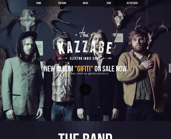 Kazzabe Music Band Muse Template