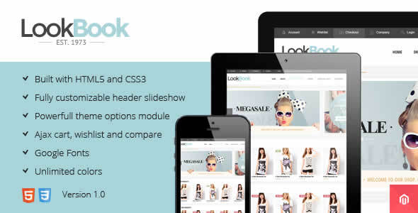 Lookbook Responsive Retina Magento Theme