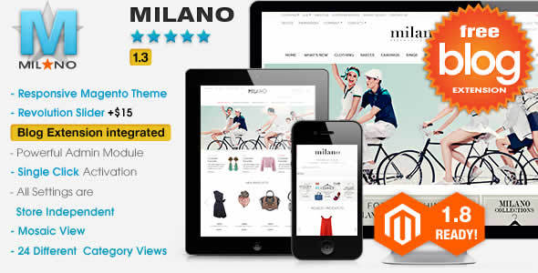 Milano Responsive Magento Theme