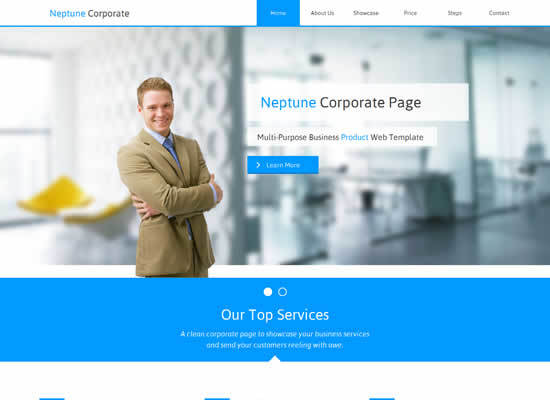 Neptune Corporate Muse Web Template