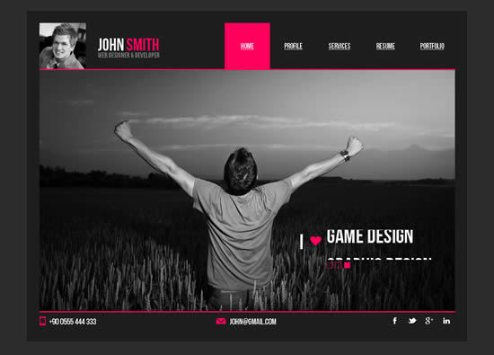 personal resume website template 20072017 - Free Resume Website