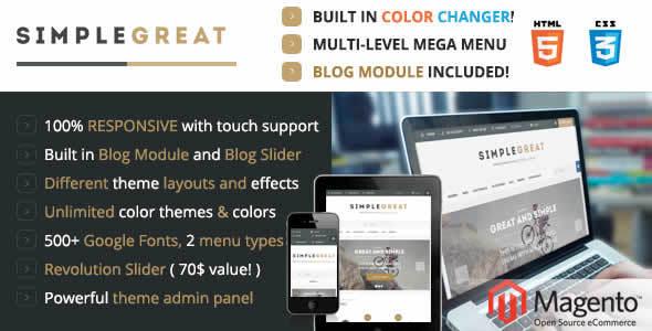 SimpleGreat Premium Responsive Magento theme