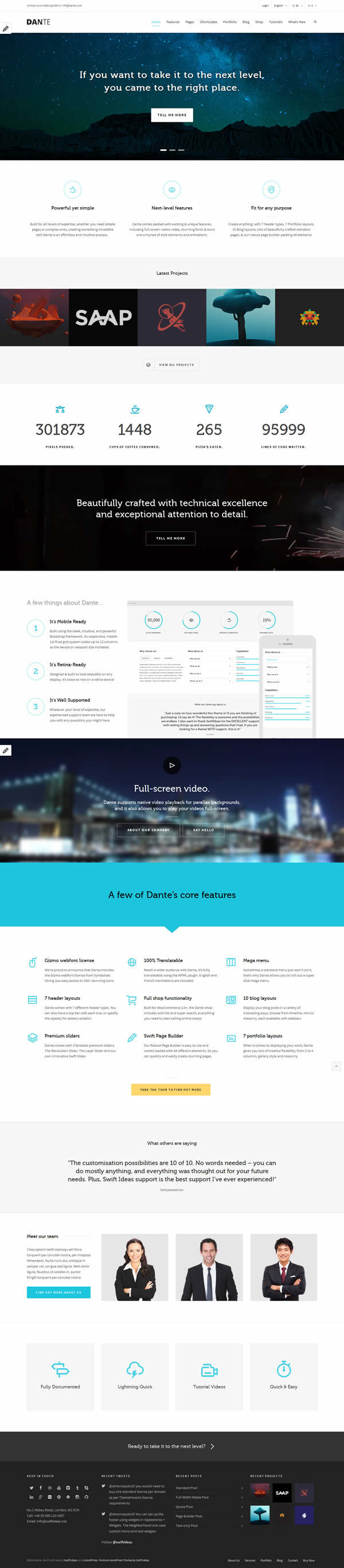 Dante WordPress Theme