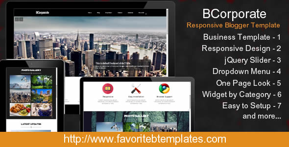 BCorporate Responsive Blogger Template