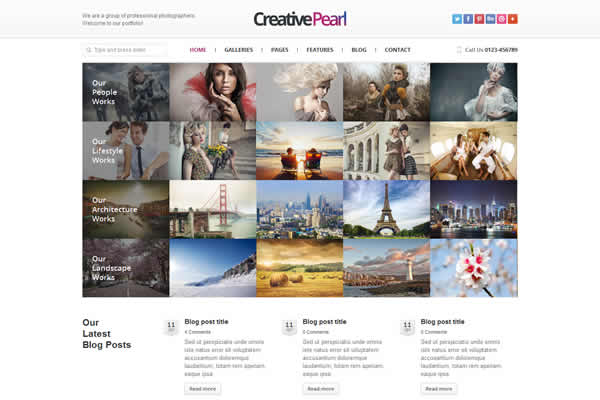 CreativePearl Photography Responsive Theme