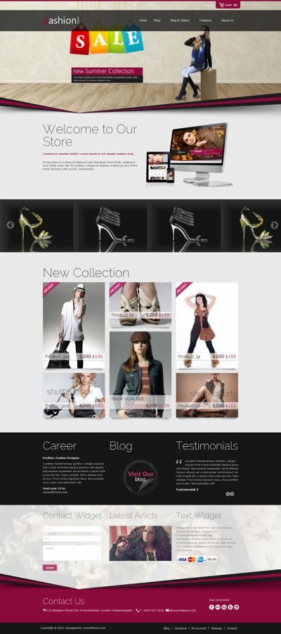 Fashion Shop Responsive WordPress Theme