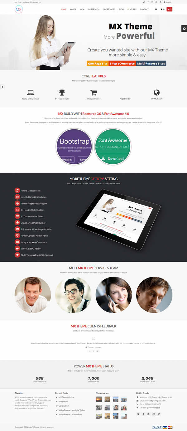 MX Responsive WordPress Theme