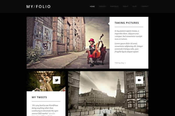 My Folio Retina Ready WP Photography Theme