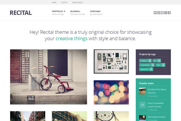 Recital Portfolio theme for Creatives