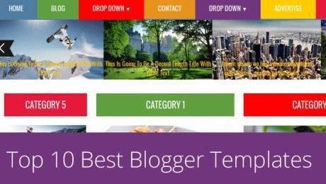 13 Elegant Responsive Premium Blogger Templates