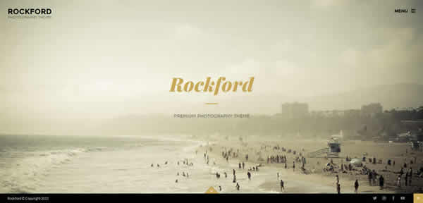 Rockford fullscreen Photography WordPress Theme