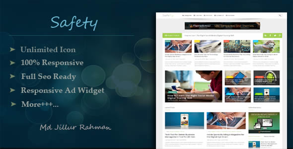 Safety Responsive MultiPurpose Blogger Template