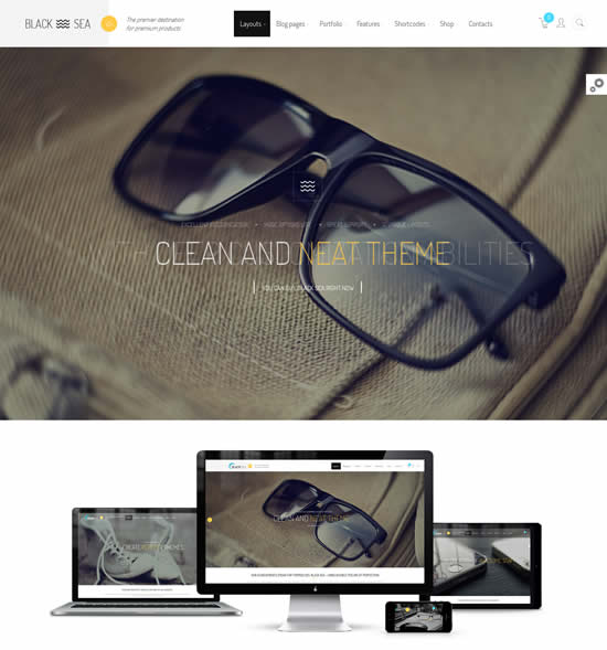Black Sea clean multi-purpose theme