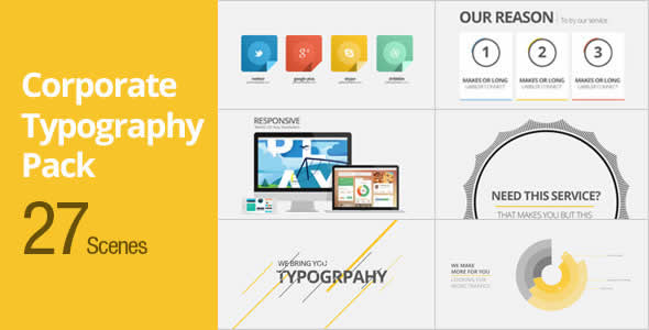 Corporate Typography Pack