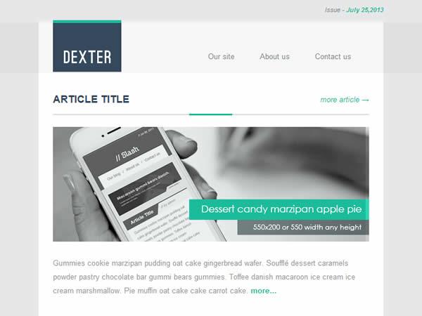 Dexter Responsive E-mail Template