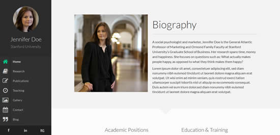 Faculty Responsive Academic WordPress Theme
