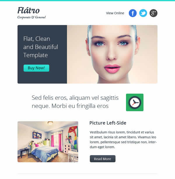 Flatro Responsive Email Newsletter Templates