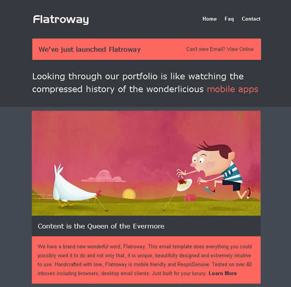 FlatroWay Metro Flat Responsive Email Template