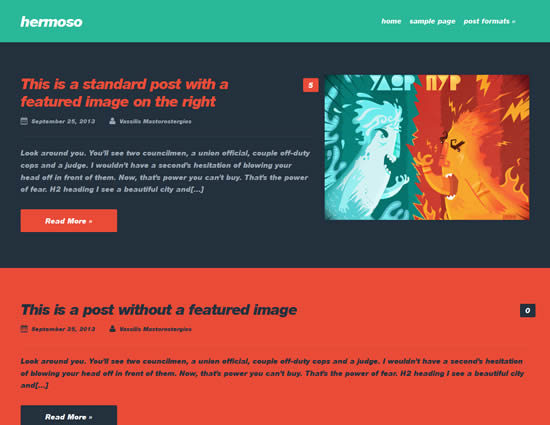Hermoso Free WordPress Blogging Theme