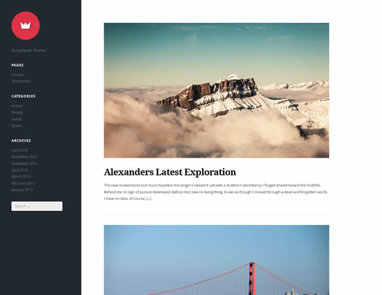 Lefty Free Left Aligned Modern WordPress Theme