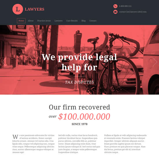 Lawyers Responsive Business WordPress Theme