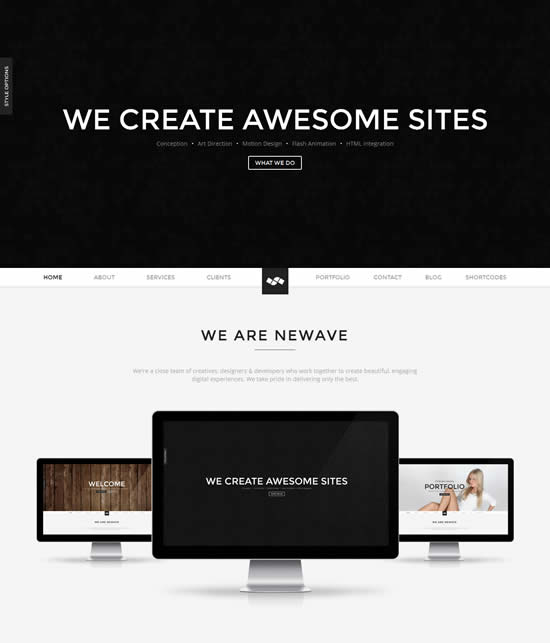 Newave WordPress Responsive One Page Parallax