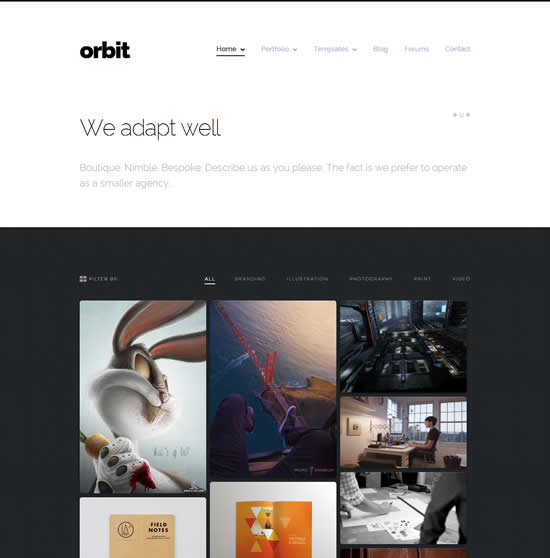 Orbit Professional WordPress Portfolio Theme