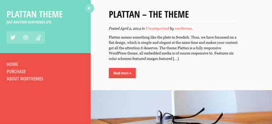 Plattan Flat and Responsive WordPress Theme