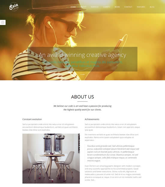 Szia Responsive WordPress One Page Portfolio