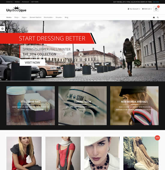 Une Boutique Advanced WooCommerce Theme