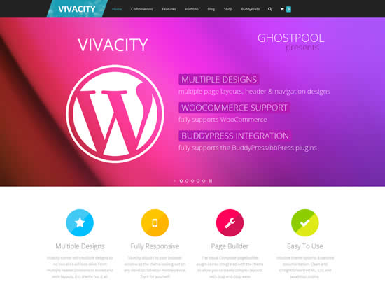 Vivacity Ultimate Responsive Multi-purpose Theme