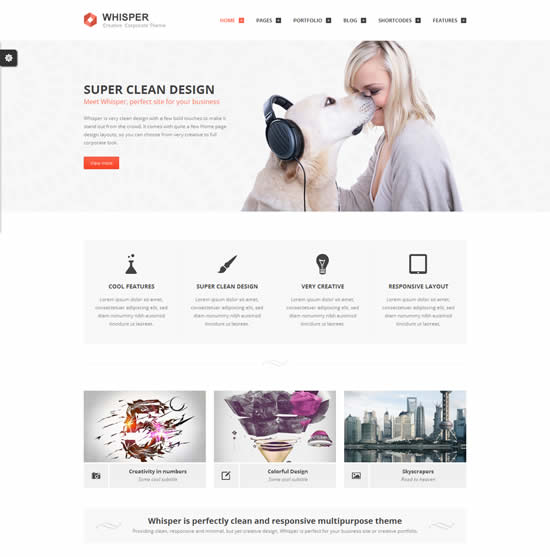 Whisper Responsive Multi-Purpose WordPress Theme