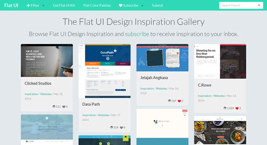 Flat UI Showcase Gallery