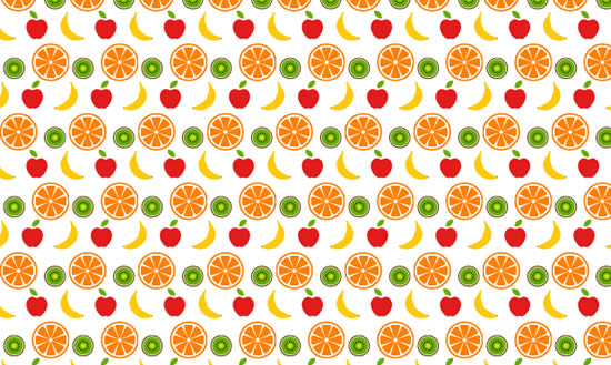 Fruity free seamless vector pattern