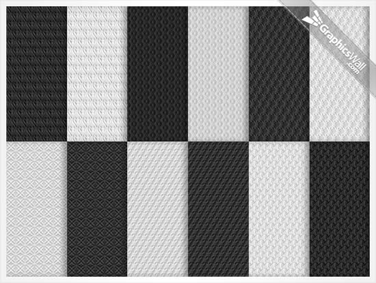 Gray Seamless Pattern Set for Web Designers