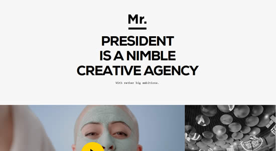 Responsive Design Example Mr. President