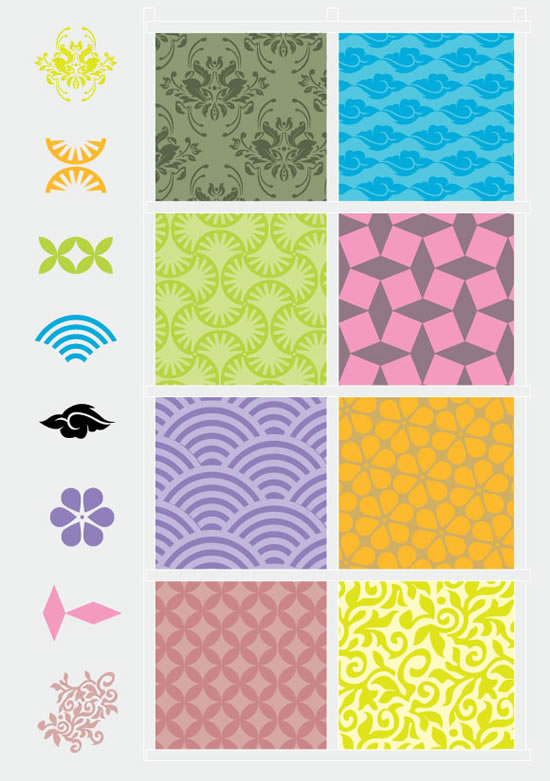 Free Vector Decorative Pattern Elements