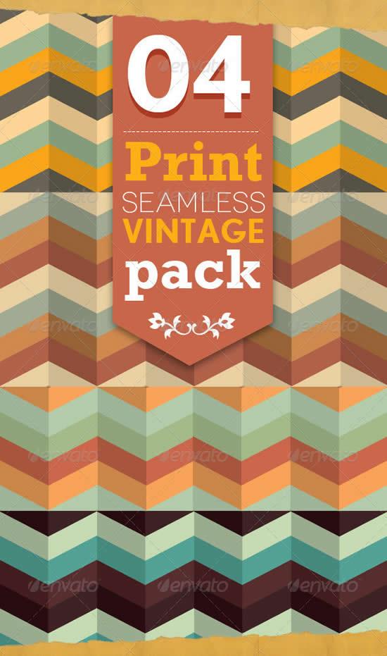 4 Pattern Seamless Vintage Style Set