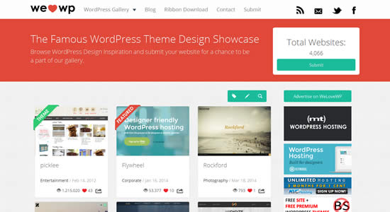 welovewp WordPress Showcase Gallery