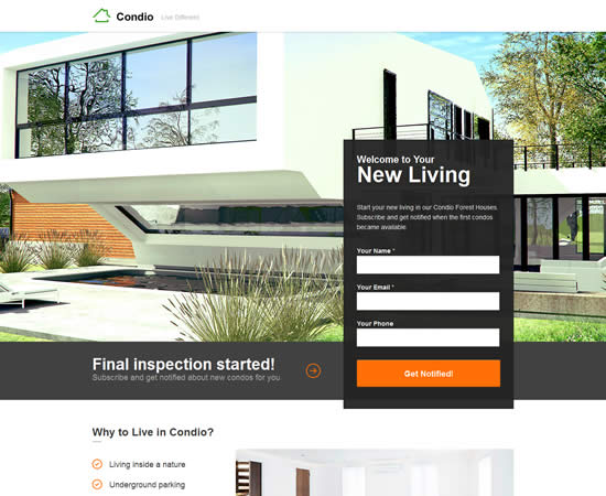 Condio Real Estate Landing Page for Unbounce