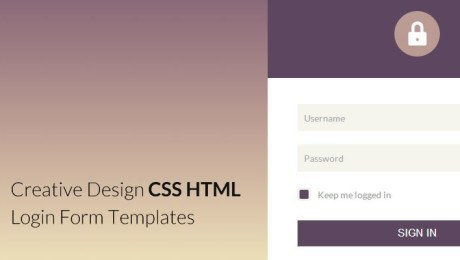 25 Elegant HTML CSS Login Form Templates