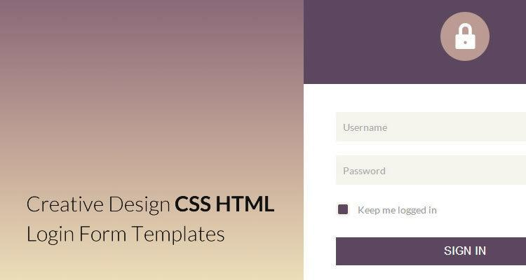 25 elegant html css login form templates webdesignboom for Php login templates free download