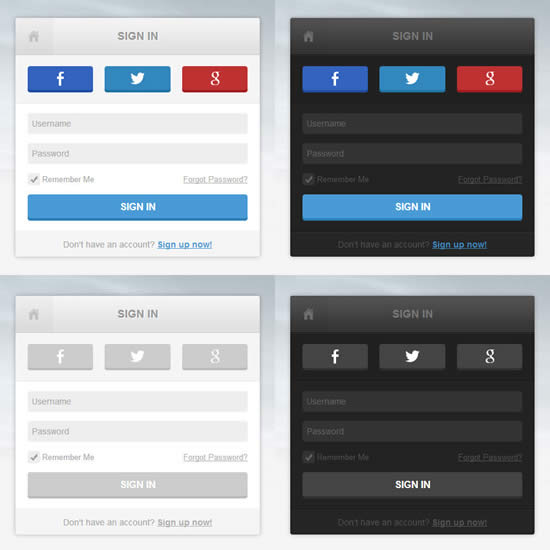 CSS3 Login Pages