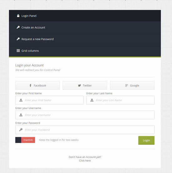 CSS3 Tabbed and Modal Forms